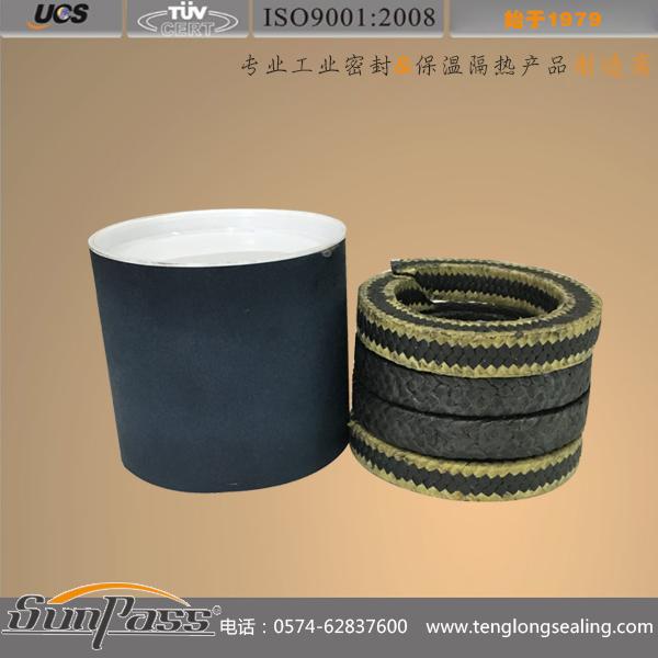 黑四氟芳纶角织盘根环